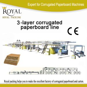 Machines for 3-Layer Paperboard for Making Carton pictures & photos