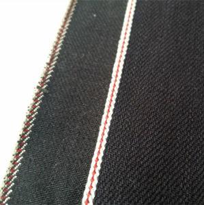 12oz Slub Black Stretch Selvedge Denim Fabric 14012