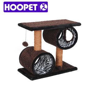 Fashionable Zebra Pattern Cat Scratcher with Swing Toy pictures & photos
