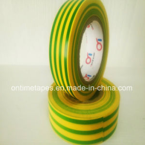 PVC Electrical Tape Printed with Yellow Green pictures & photos