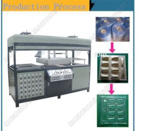 PVC, Pet, PP, PS Plastic Tray Molding Machine, Ce Certification pictures & photos