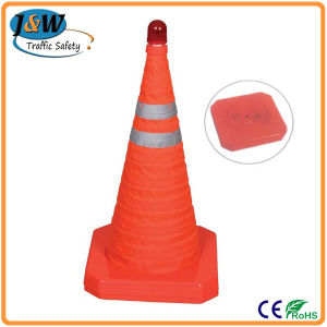 700mm Retractable Orange Safety Traffic Cones with Reflective Tape pictures & photos