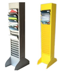 Metallic Literature Floor Stand pictures & photos