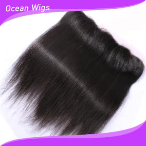 8A Brazilian Virgin Hair Lace Frontal 13X4 Straight Lace Frontal Closure Ear to Ear Full Lace Frontal and Closures with Baby Hair (F-007) pictures & photos