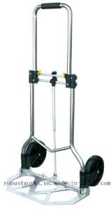 Chrome-Plated Folding Hand Trolley (HT022AC-1) pictures & photos