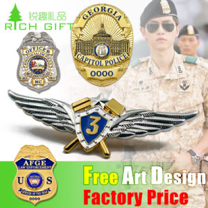 Factory Price High Quality Shield Tissus Fbi Metal Lapel Pin pictures & photos