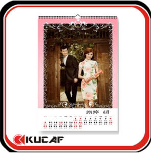 Paper Wall Calendars with Metal Ring pictures & photos