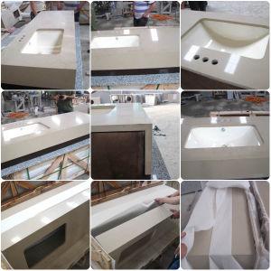 Artificial White Beige Brown Quartz Stone Countertops