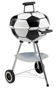 Football Shaped Design Charcoal BBQ Grill Barbecue pictures & photos