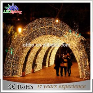Atificial Outdoor Commercial Street Christmas LED Motif Arch Light pictures & photos