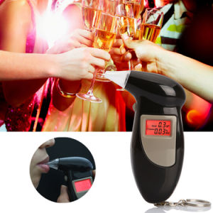 Keychain Sound Alarm Digital Breath LCD Display Alcohol Tester pictures & photos
