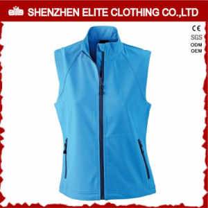 Womens Blue Softshell Jacket Sleeveless pictures & photos