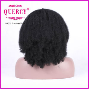 Brazilian Virgin Hair Afro Kinky Curly Wig Human Hair Front Lace Wig 130 Density Lace Wig for Black Women pictures & photos
