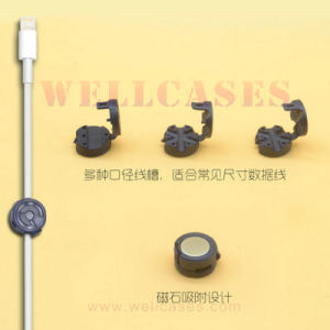 Desk Sticky Winder Drop Clip Mini Magnetic Universal Cord/Wire/Wrap/Cable Organizer pictures & photos