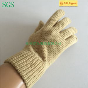 Singular Layer Acrylic Knitted Five Finger Glove