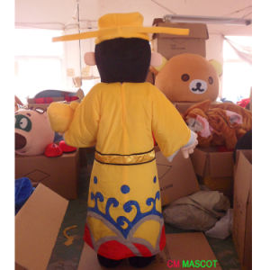 God of Wealth with Yellow Dress Mascot Costume pictures & photos