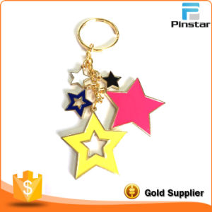 Colorful Star Shaped Fashion Metal Keychain pictures & photos