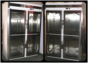 Hot Food Warmer Display Showcase with Stainless Steel pictures & photos