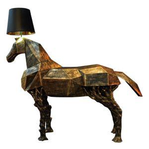 Glass Fiber Reinforced Plastics Horse Decorative Floor Lamp (KAMF5866) pictures & photos