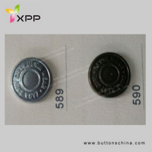 11.25mm 2 Hole Metal Button Plated Button pictures & photos