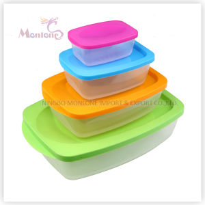 4pack Bento Lunch Box, Colorful Microwave Plastic Storage Food Container pictures & photos