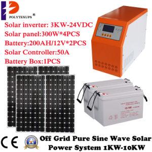 off Grid Solar Power System Hybrid Inverter with Controller 1000W/2000W/3000W/4000W/5000W/6000W/8000W/10000W pictures & photos