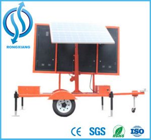 Traffic Safety Solar LED Screen Movable Sign Board pictures & photos