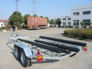 Hot Galvanizing Boat Trailer Cbt-74 with Wood Bunk