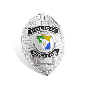 Custom Irregular Silver Plated Police Badge (GZHY-BADGE-015) pictures & photos