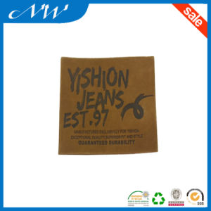 Classical Leather Label Printed Jeams Brown Leather Patches pictures & photos