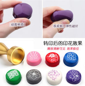 New Manicure Printing Tools Ukraine Manicure Seal Metal Seal Manicure Gold Silver Stamp Seal