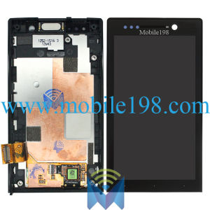 LCD Display and Touch Screen Digitizer with Front Housing for Sony Xperia U St25I pictures & photos