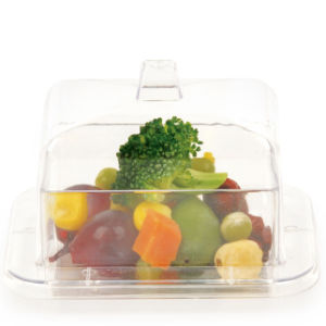 PP/PS Plastic Bowl Mini Rectangle Bowl 3.8 Oz with Lid pictures & photos