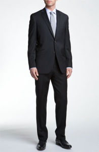 OEM Regular Fit Black Formal Coat Pant Suit for Men pictures & photos