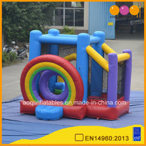 Inflatable Rainbow Jumping Castle Bouncer for Kid (AQ03129) pictures & photos