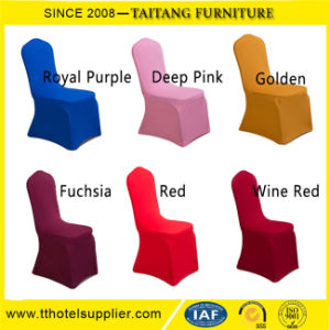 Spandex Polyester Plain Round Top Chair Covers pictures & photos