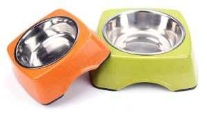 Dog Bowl Bamboo Fiber Steel Ceramic Pet Bowl pictures & photos