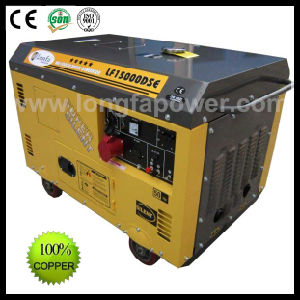 7.5kVA 7.5kw 198f Engine Three Phase Silent Diesel Generator Set pictures & photos