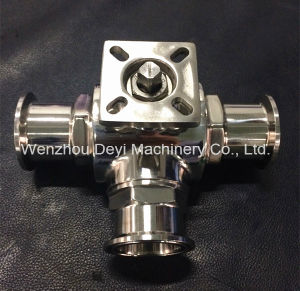 China Sanitary Ss304 3 Way Tri Clamped Ball Valve pictures & photos