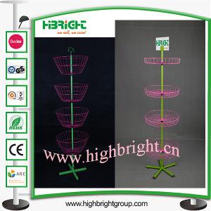4 Tier Ajustable Floor Standing Wire Basket Spinner pictures & photos