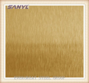 201 304 Stainless Steel Mirror Rose Golden Sheet pictures & photos
