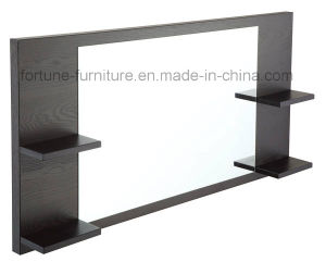 Wooden Frame Makeup Mirror with Shelf (I&D-10353A) pictures & photos