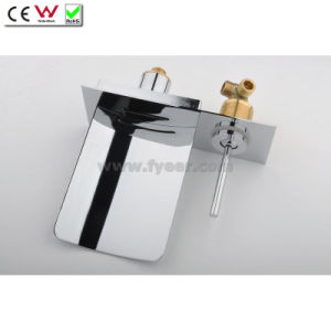 Stainless Steel Spout Waterfall Wall Mounted Bath Faucet (QH0500WS) pictures & photos