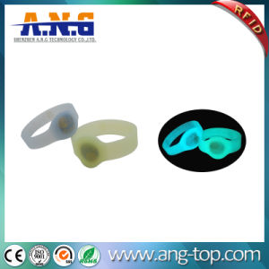Transparent RFID NFC Silicone Wristband for Amusement Park pictures & photos