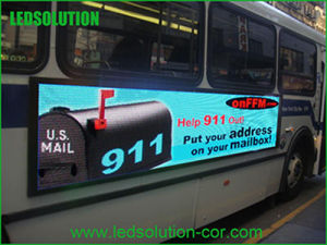 P5 Outdoor Full Color Bus LED Display pictures & photos