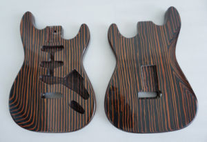 2017 latest Gloss Finish Solid Zebrawood Electric Guitar Body pictures & photos