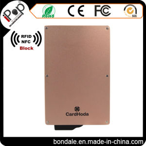 Rose Gold Credit Card Protector Aluminum RFID Blocking Secure Case