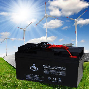 12V 65ah Solar Rechargeable Lead Acid Battery pictures & photos