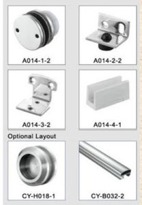Sliding Door Fittings Frameless Shower Door Hardware pictures & photos