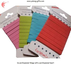 Green Color Button Hole Elastic Tape for Garment (YH-ET019) pictures & photos